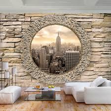 details zu vlies fototapete steinwand new york stein tapete wandbilder wohnzimmer 092