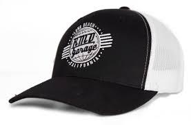 100 Rmds Trucking TRUCKER CAP BLACK WHITE RMD GARAGE