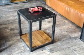 table d appoint pour canapé bout de canapé et meuble d appoint de style industriel micheli
