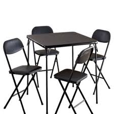 Amazon.com: Card Table Chairs Set Of Five Black Cards ... Wooden Table And Chairs For Kids Dark Ding Style Crayola Chair Collapsible Folding Foldable Round Card Fniture Exciting Cosco Interesting Home Card Tables And Chairs Sets Tables Out Toddlers Outdoor Costco Teak Small Vintage Products 5pc Set Tan 5piece Black 7733 2533 Vtg Retro Samsonite 4 Astonishing Large Meco Sudden Comfort Deluxe Double Padded Back 5 Piece Chicory Safe Foldinhalf