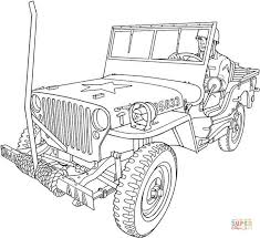 Related Coloring Pages Willys MB US Army