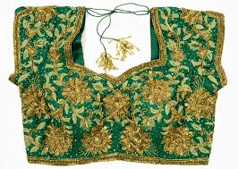 Full Body Gold Zari Maggam Work Blouse