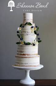Semi Naked Boho Wedding Cake