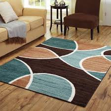 Brown And Teal Living Room by Better Homes And Gardens Geo Waves Area Rug Or Runner Walmart Com