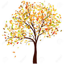 Fall tree background clipart