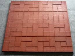 Rubber For Patio Paver Tiles by Patio Ideas Rubber Patio Tiles With Brick Motif Tiles And Red