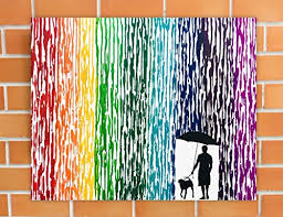 Dog Art Canvas Pet Silhouette Memorial Painting Mans Best Friend Gift Melted Crayon