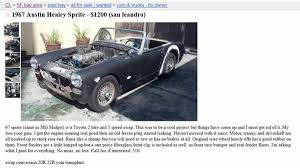 The Toyota-engined Austin-Healey Sprite That Will Haunt Me Forever ... What You Need To Know Before Moving San Francisco 1961 Ford Econoline Pickup Truck For Sale In East Sf Bay Area Ca At 8000 Would Be Shocked By This 2001 Bmw 330ci Electric Becomes Top Spot In Nation Auto Theft Cbs Houses Rent Private Landlords Trulia Map Real Estate Listings 16000 Could Get Revved Up 2007 Honda S2000 Craigslist Seller Claims Be Selling Steve Jobs Old Convertible 3200 1987 325i Everything That Is Good These Are The Best Cars Trucks And Suvs Buy 2018 F Gm Craigslist Bay Area Housing 28 Images Bakersfield Casual Dropped Toyota Previa Sc Go 7000