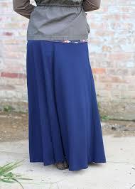 super soft drawstring modest maxi skirt navy modli