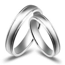 Affordable Couples Wedding Ring Bands on 10k White Gold