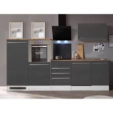 respekta premium küchenzeile berp290hwgc 290 cm grau hochglanz weiß