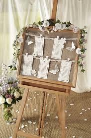 DIY Vintage Wedding Table Chart