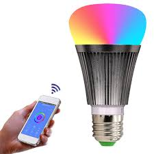 b22 e27 outdoor led bulb dimmer wifi smart light bulbs remote