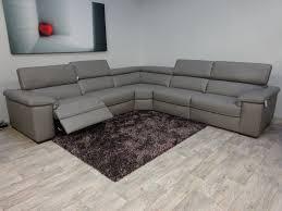 natuzzi editions domenico leather arm to arm power corner sofa