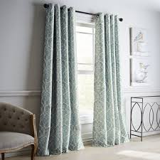 White And Gray Blackout Curtains by Mota Blue Grommet Blackout Curtain Pier 1 Imports
