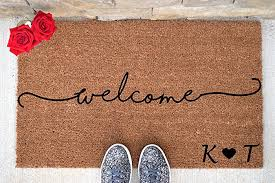 Amazon Personalized Wel e Doormat Wel e Mat Wel e