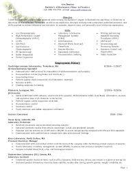 Biochemistry Resume Lab Technician Sample Bachelor Of Science In Msc Samples