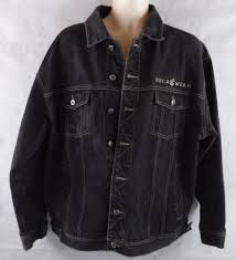 men u0027s rocawear 100 cotton stonewashed black jean denim jacket