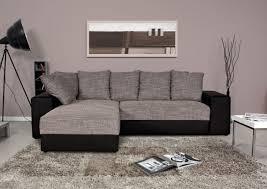 kreabel canapé canapé d angle réversible valentina noir et gris