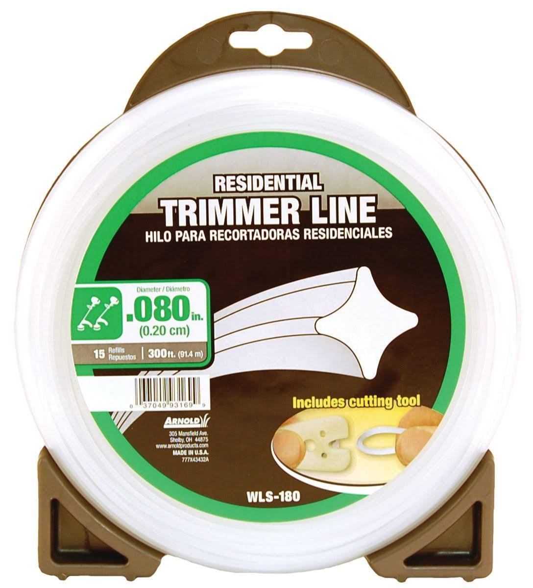 Arnold Corporation Residential Trimmer Line - 0.080in x 300ft