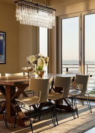 Beautiful Dining Room Decor Ideas with Brown Wall Paint Color and
