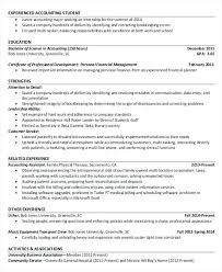 Accountant Resumes Examples Resume Example For Project Senior Public
