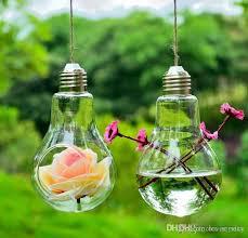 light bulb glass planter vase air plants bulb terrarium hanging