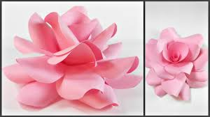 Paper Flowers Rose Diy Tutorial Easy For Childrenorigami Flower Folding 3d Kidsfor Beginners