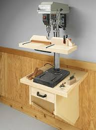 wall mounted drill press table woodsmith plans woodworking
