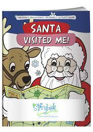 Custom Coloring Books Santa Visited Me