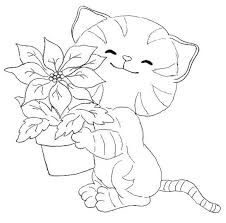 Kitten Coloring Pages 2
