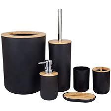 sodial 6 teiliges bambus badezimmer set bad zubeh rset