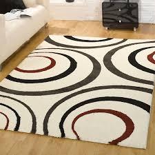 Simple Carpet Designs Red Grey Waves Cool Rug