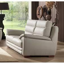 canapé simili cuir gris canapé fixe 2 places en simili cuir gris clair