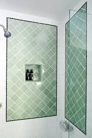 photos hgtv white tile shower with green accent panels idolza