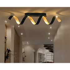 luce design led deckenleuchte helix schwarz gold 35 cm x 80 cm x 13 5 cm eek a
