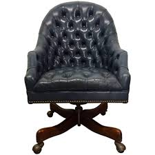 Mainstays Desk Chair Gray by Schafer Bros Tufted Leather Chair At 1stdibs In Tufted Leather