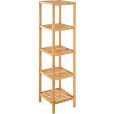 bambus standregal 5 böden regal handtuchhalter