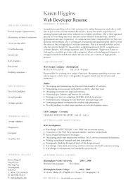Web Developer Resume Objective Sample Example Designer Template Development Pic 2 1