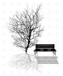 Park Bench Under The Tree Royalty Free Vector Clip Art Image