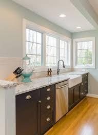 Kohler Whitehaven Farmhouse Sink by Richmond Va Kitchen Remodel With Apron Sink And Custom Elmwood