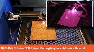 k40 ebay co2 laser cutting quarter inch cork tiles
