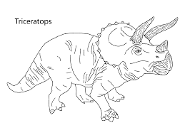 Triceratops Dinosaur Coloring Pages For Kids Printable Free