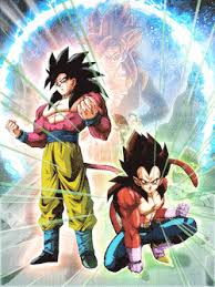 Pinnacle Of Saiyan Power Goku SSJ4 And Vegeta