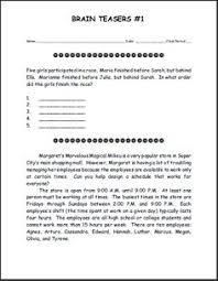 Halloween Brain Teasers Worksheets by Brain Teasers Worksheet 7 Head Scratchers Kids Will Love Free