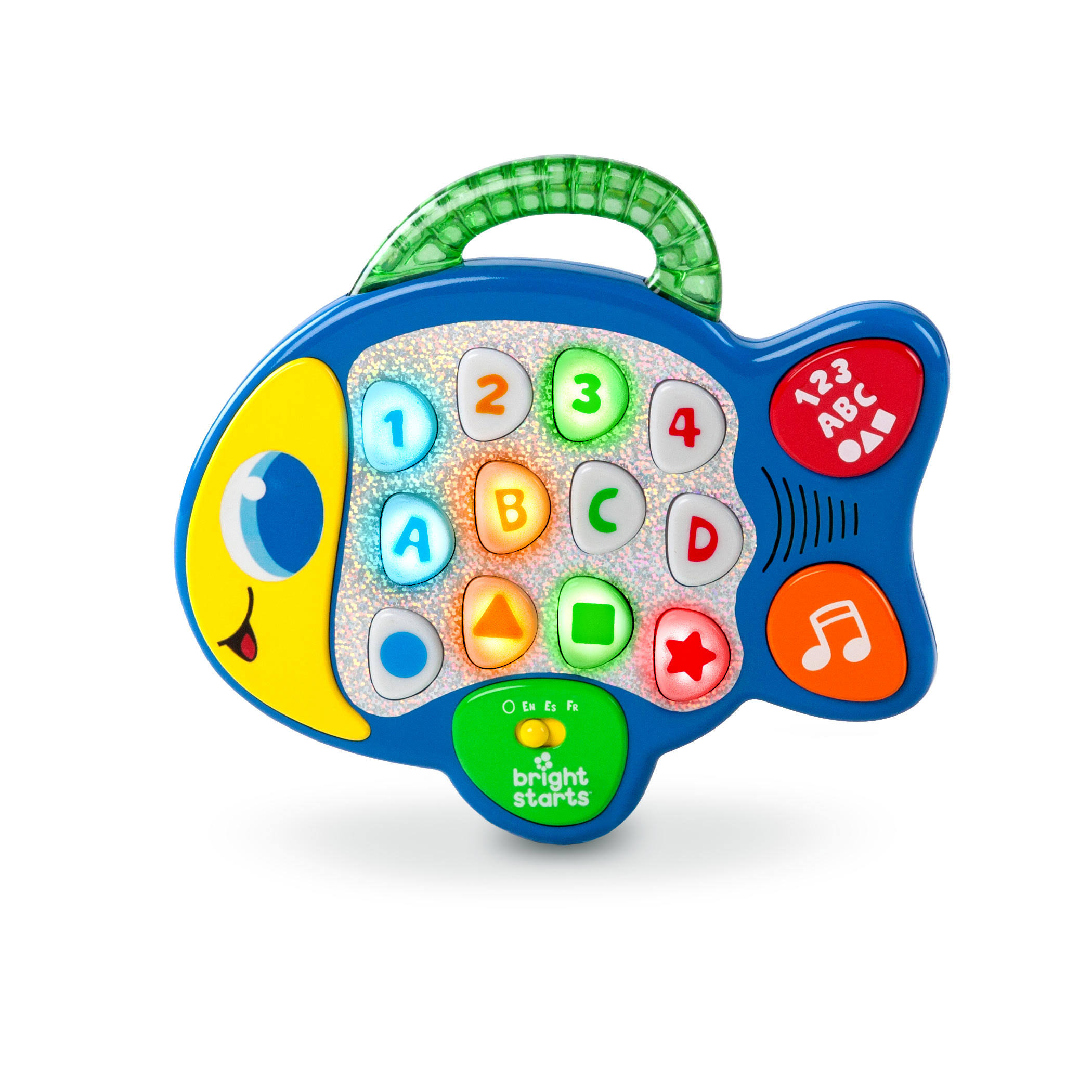 Bright Starts Baby Learn Lights and Giggle Fish Toy - Blue