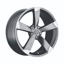 Audi AU5 Grey Machined Faced Replicas : Wheels : JK Motorsports :