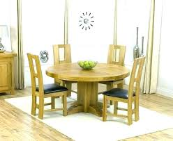 Oak Round Table And 4 Chairs Dining For Inspirational Wood Kitchen With