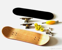Lovesporter Maple Diy Finger Skateboard Wooden Fingerboard W Nuts ...