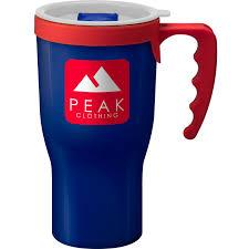 Printed Challenger Reusable Coffee Mug Blue BPA Free